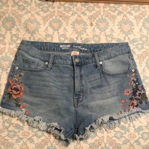 Mossimo Supply embroidered high rise shorts